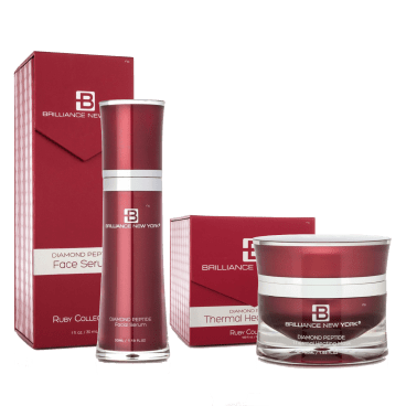 Brilliance New York Rubies Collection Thermal Facial Mask and Serum 2-Piece Set