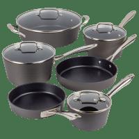 Deals on Cuisinart 10-Piece Conical Anodized Cookware Set
