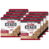 Deals on 40-Pack SlimFast Keto & Diabetic Weight Loss Meal Replacement Bars