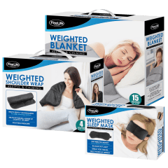 FineLife Weighted Shoulder Wrap & Eye Mask or Blanket