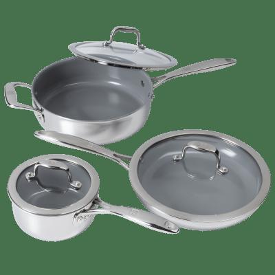 Zwilling Titanium 6-Piece CeraForce Cookware Set
