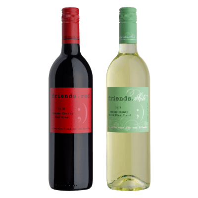 Deals on 12-Bottles (1 Case) of Pedroncelli Friends White or Red Wine