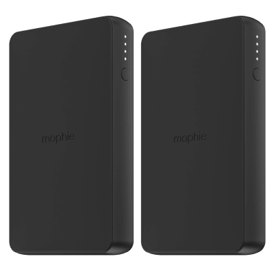 2-Pack Mophie 6040mAh Portable Power Bank with 1 USB Charging Ports