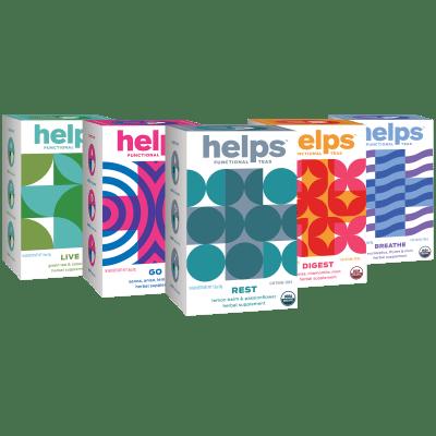 80-Pack HELPS Organic Functional Herbal Teas