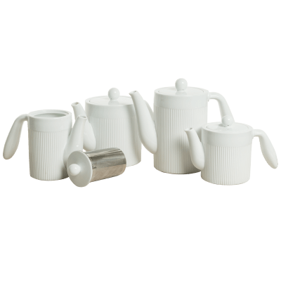 Victor & Victoria Plisse Collection Tea & Coffee Pots (17 oz, Small)