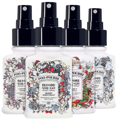 4-Pack Poo-Pourri 2oz Holiday Scents with Gift Bags