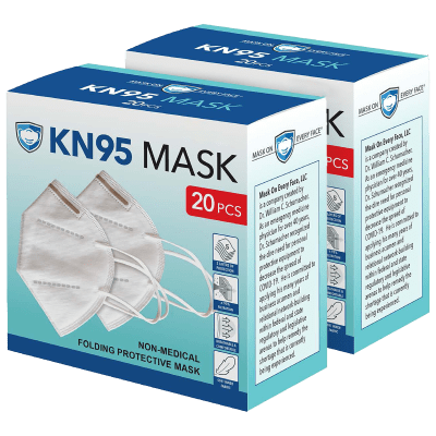 40-Pack Every Face 5-Layer KN95 Disposable Face Masks