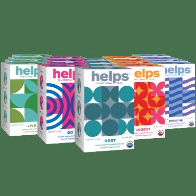 320-Pack Helps Functional Organic Herbal Teas