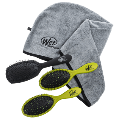 Deals on Wet Brush Pro Detanglers with Epic Pro Hair Towel Gift Pack