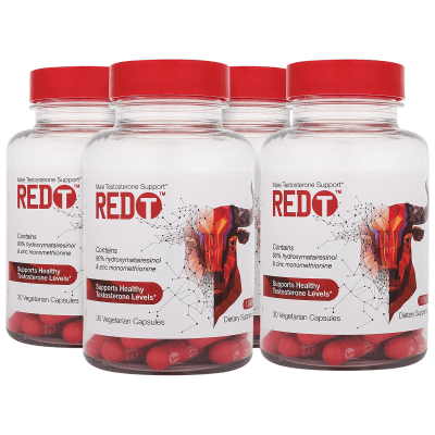 4-Pack Red-T Zinc Immune Support for Men (120-Day Supply)