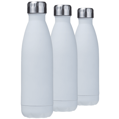 3-Pack Halcyon 17oz Soft-Touch Vacuum Insulated Bottles (White)
