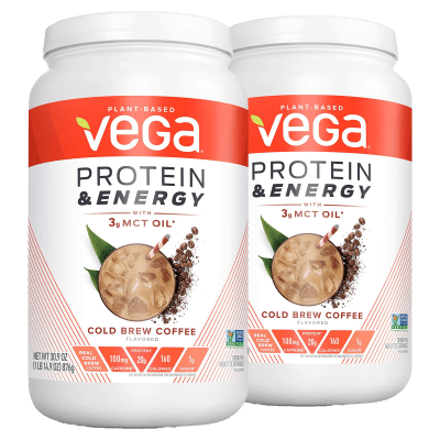 2-Pack VEGA Protein & Energy Coffee Protein Powder (3.86 lb Total)