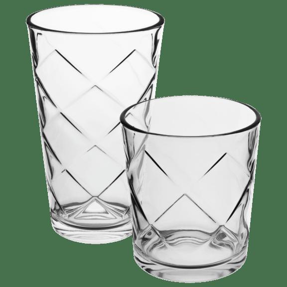 Laurie Gates Big Diamond 20-Piece Glassware Set
