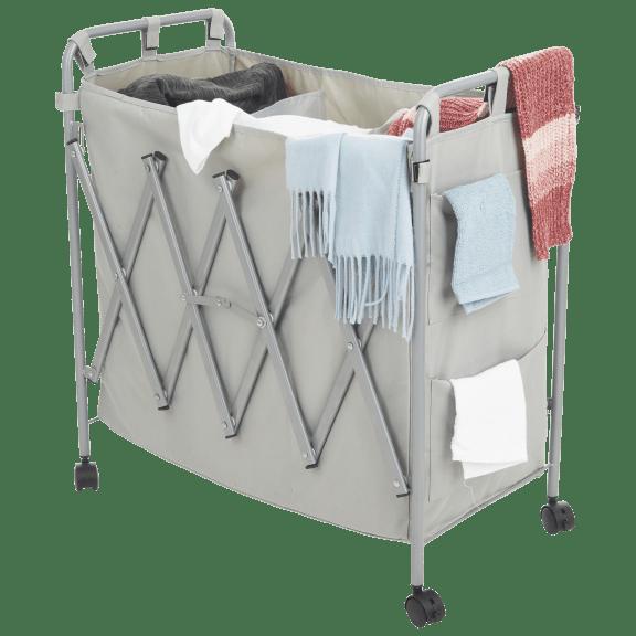 Vanderbilt 3-Section Rolling Laundry Hamper