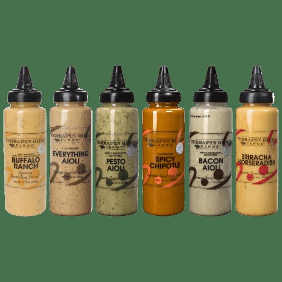 6-Pack of Assorted Terrapin Ridge Farm Garnishing Squeezes