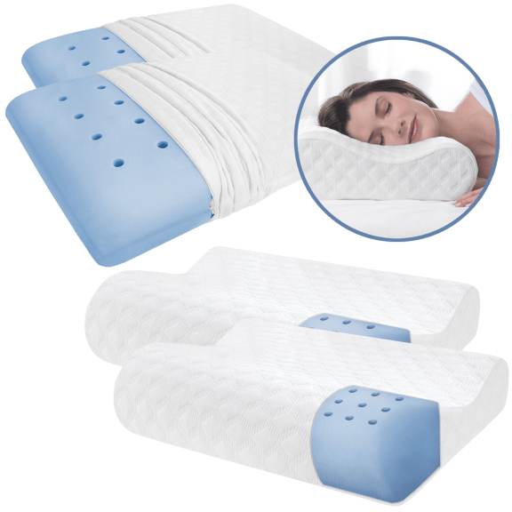 2-Pack: Therapedic Memory Foam Pillows with iCool Technology