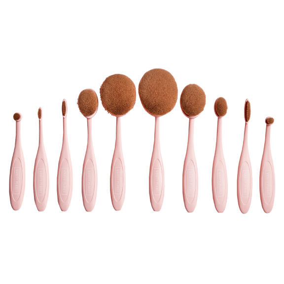 Vanity Planet Blend Party 10 Piece Oval Makeup Brush Set