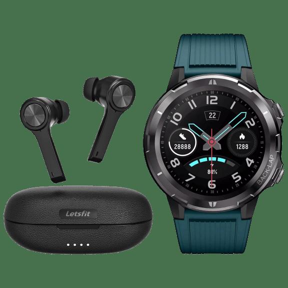 Letsfit Smart Watch + True Wireless Earbuds Bundle