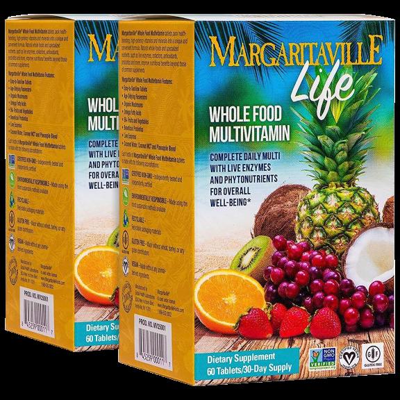 2-Pack: Margaritaville Life Whole Foods Multivitamin Tablets