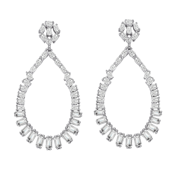 Megan Walford Lab Created Sapphire and Champagne Diamond