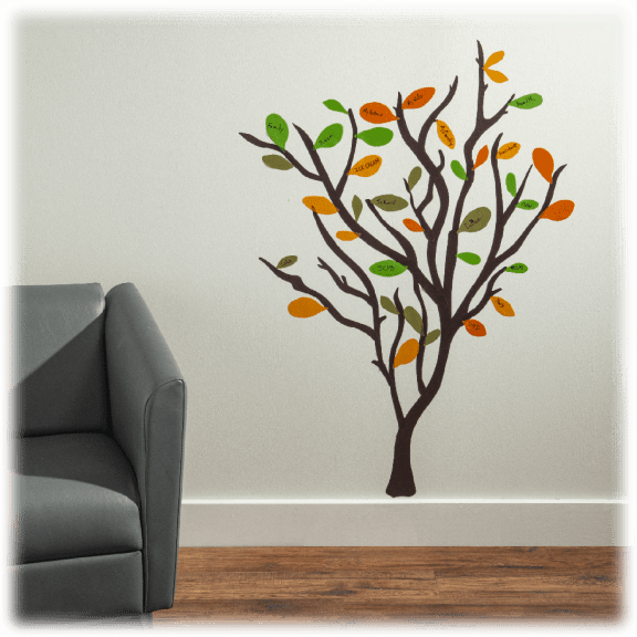 Growing Gratitude Tree 119 Wall Decals with Bonus Ornament Set seen on the Doctor's TV deals