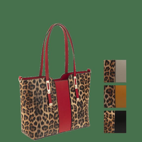 Dish Nation small leopard print tote