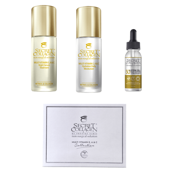 Secret Collagen Complete Daily Stem Cell Anti-Aging Skin De-Stress Collection seen on the Doctor's TV deals