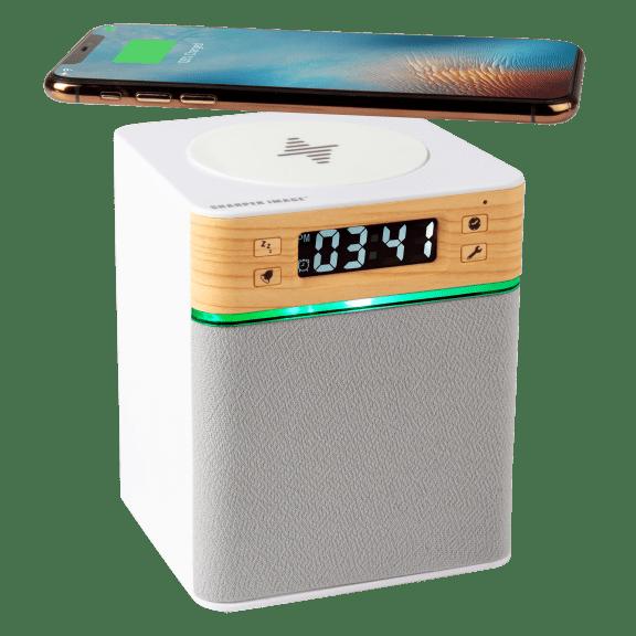 Sharper Image Executive Wireless Speaker & Qi Charging Clock