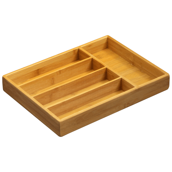 Bombay Bamboo 5 Compartment Flatware Tray