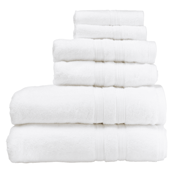 Tommy Bahama 6-Piece 100% Cotton Towel Set in White