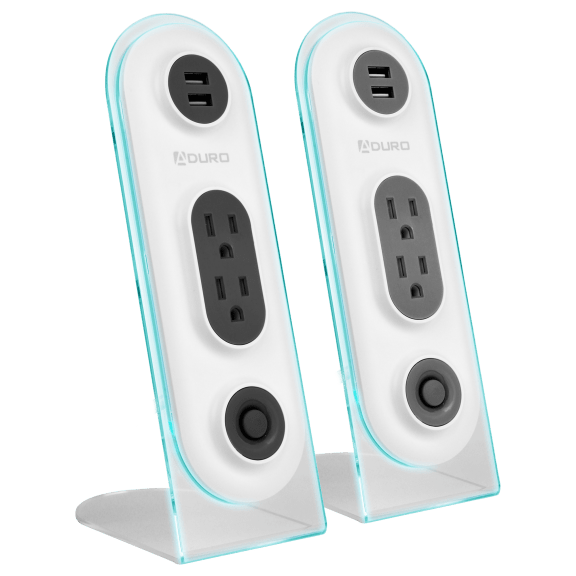 Aduro Surge Duo Dual USB & Dual Surge Charging Station