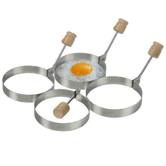 """4-Piece Meridian Point 3.5"""" Egg Ring Molds"""