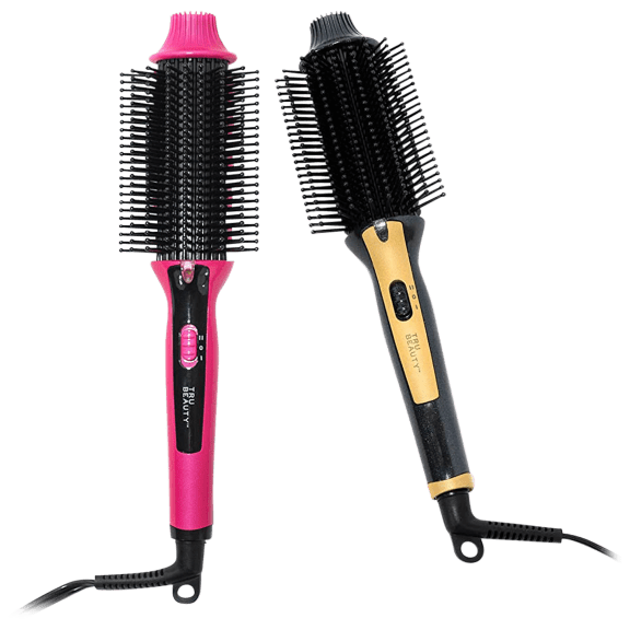 Tru Beauty 2-in-1 Hot Styling Brush, with Ionic Tourmaline Barrel