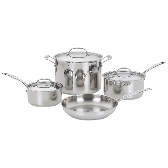 Cuisinart 7 Piece Stainless Steel Chef's Collection Cookware