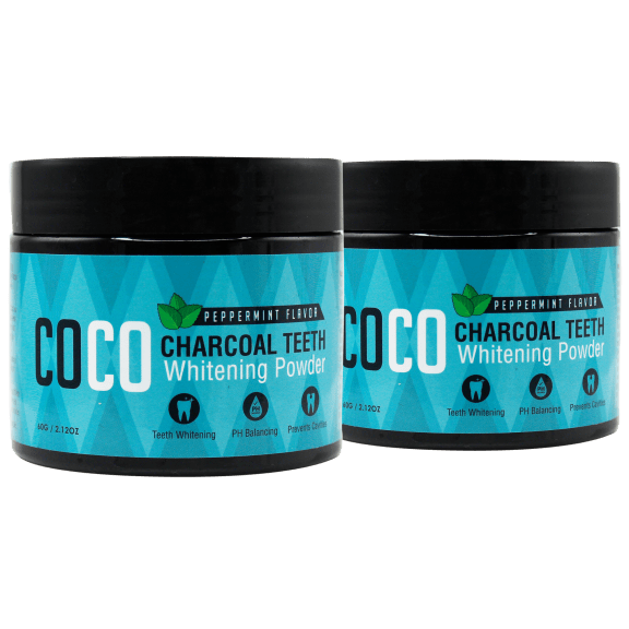 2-Pack: Coco Teeth Whitening Mint Charcoal Powder