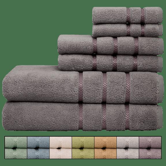 Pure Elegance 6-Piece 100% Cotton Luxury Towel Set seen on ET VIP Deals