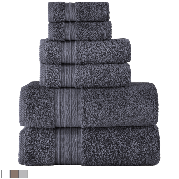 Enchante Home Luna Turkish Towel 6-Piece Set