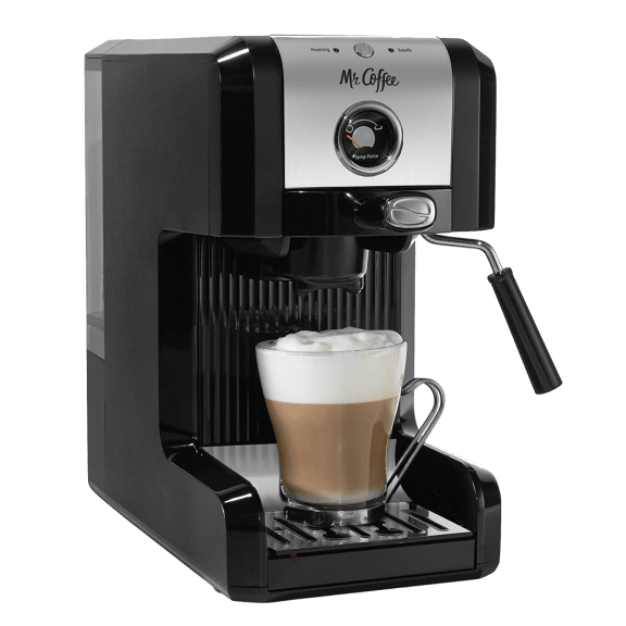 Mr. Coffee® Easy Espresso and Cappuccino Machine with Milk Frother
