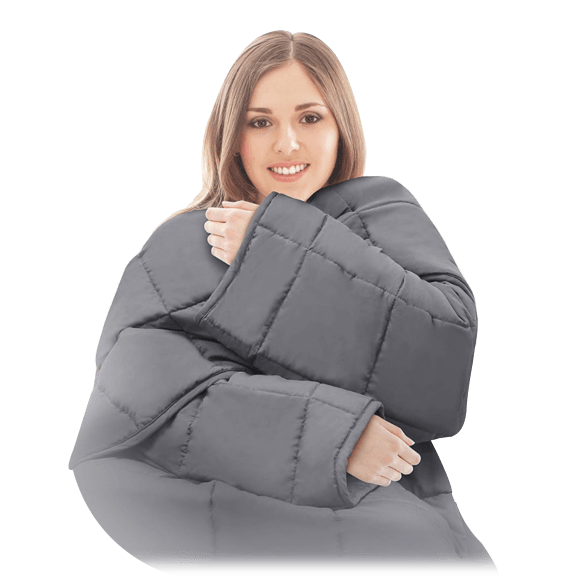 Snuggle Me Weighted Blanket with Sleeves (5lb)