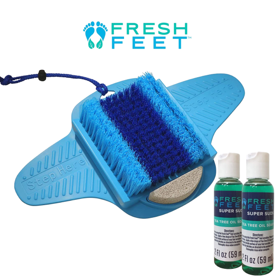 Fresh Feet Foot Scrubber Deluxe with Pumice Stone seen on the Doctor's TV deals
