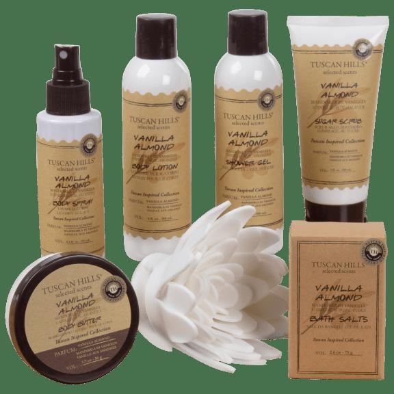 Tuscan Hills Vanilla Almond Scent Body Care 7-Piece Set