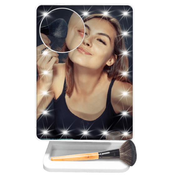 Delia's Musical Bluetooth Vanity Mirror Speaker with LED Lights