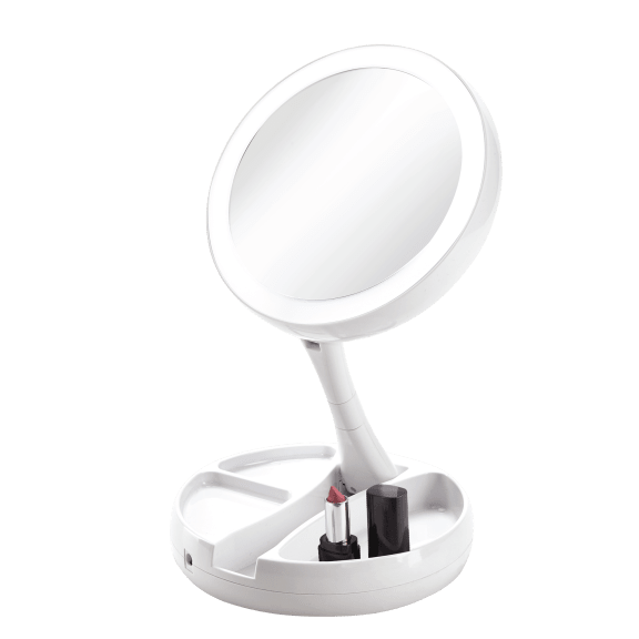 Vivitar Simply Beautiful Fold-Away Double-Sided Vanity Mirror
