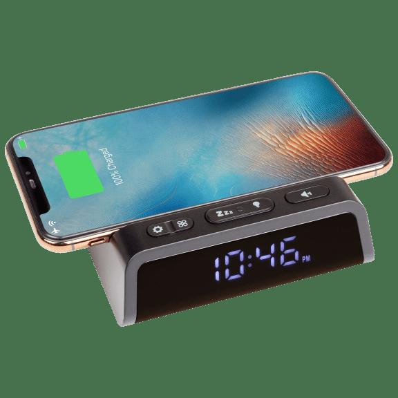 Seneo 2-in-1 Alarm Clock with Wireless Charging Pad