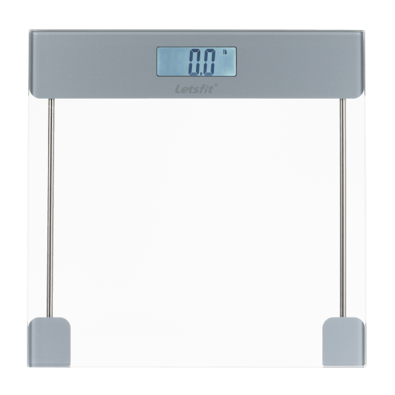 Letsfit Clear Tempered Glass Digital Body Weight Scale