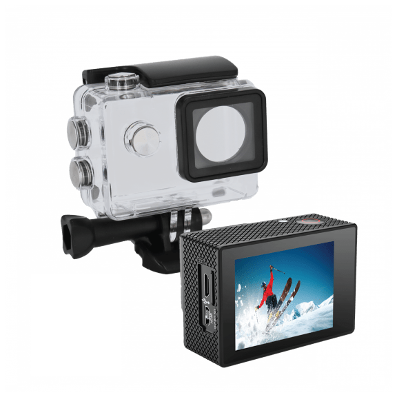 """iJoy Visionne 4K Action Camera with 2"""" Colored Touch Screen and Waterproof Case"""