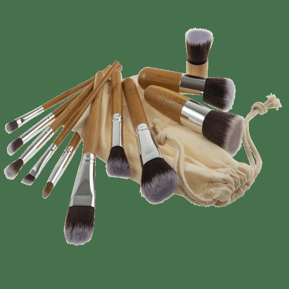 SwissTek 11-Piece Makeup Brush Set with Bonus Storage Bag