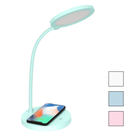 iHome LED Table Lamp with Flex Neck and Wireless Charger