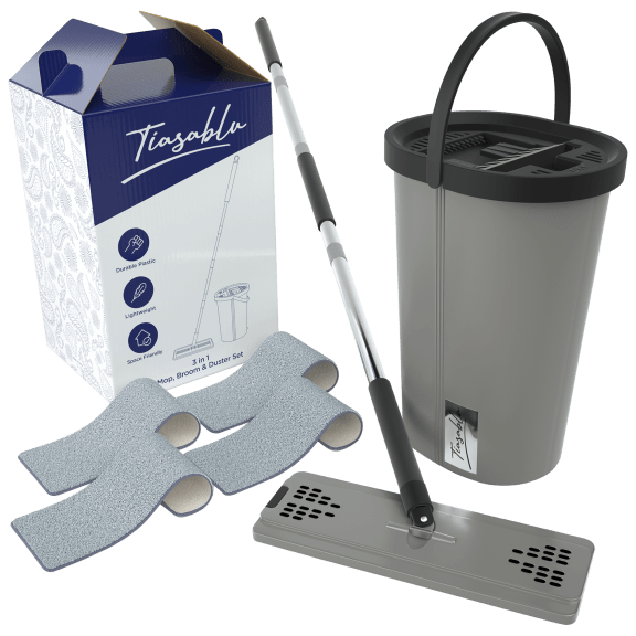 Tiasablu 3-in-1 All Purpose Swivel Mop and Floor Sweeper