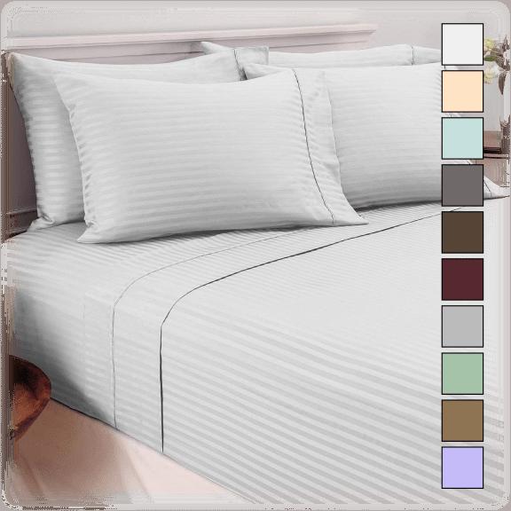 Hotel New York 6-Piece Dobby Stripe Sheet Set